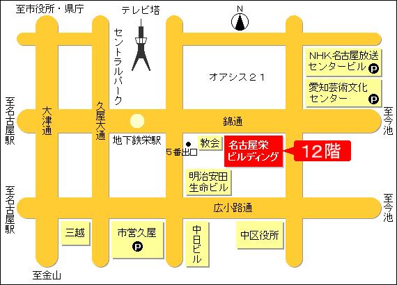 名古屋栄ビルディングMAP