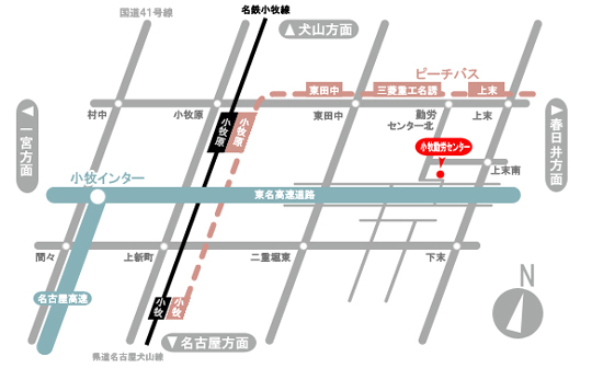 小牧勤労センタ―MAP